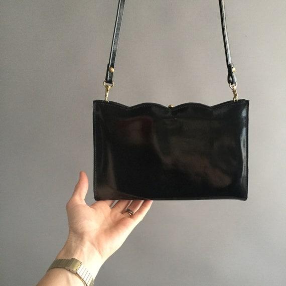 1980s patent leather handbag