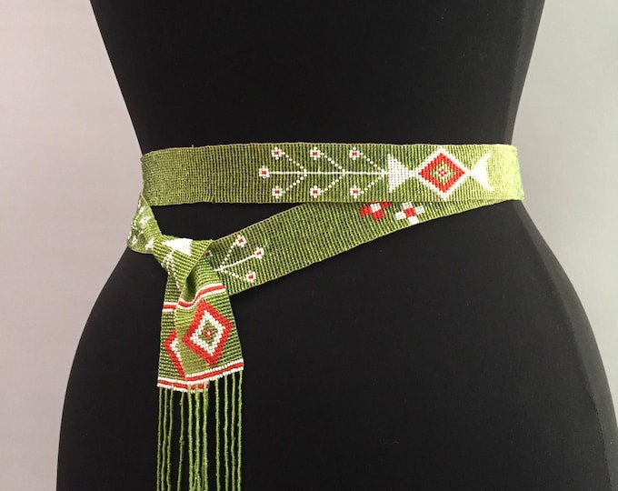 flapper style 1920s/1930s beaded necklace /belt