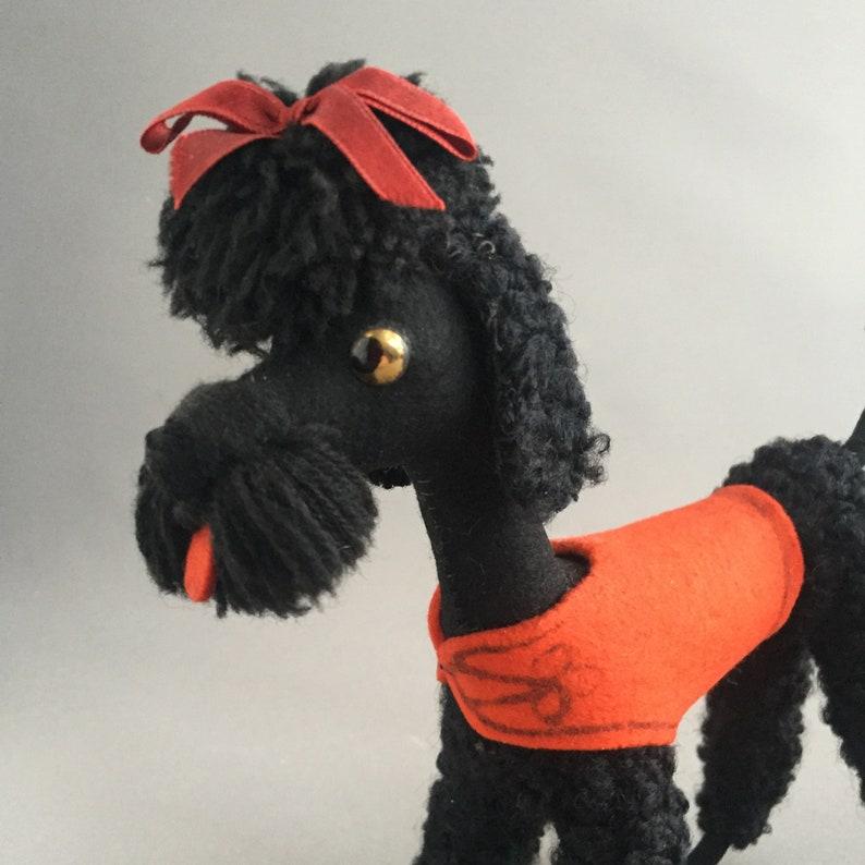 1950s felt poodle