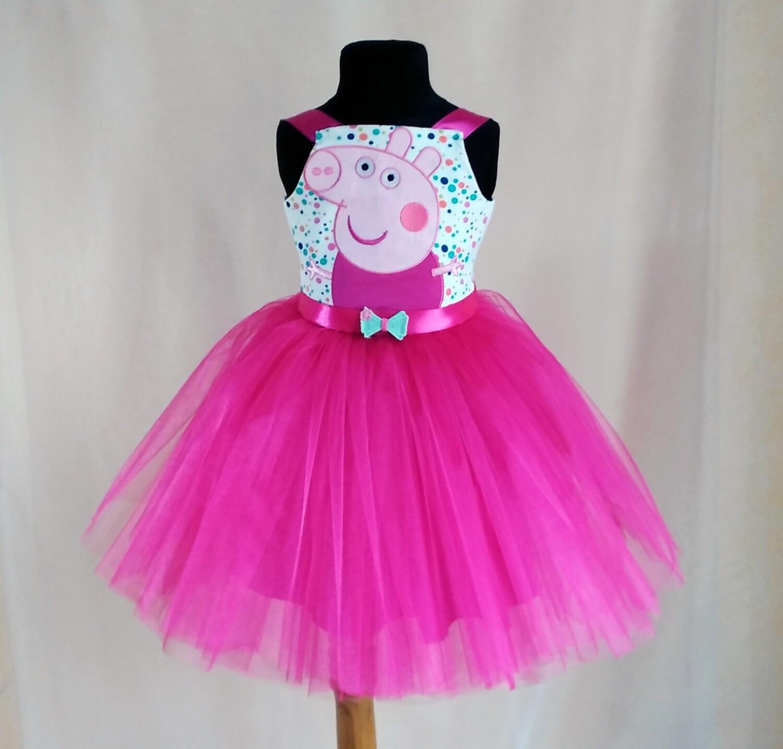 Vestido de cumpleaños de color rosa suave de Peppa Pig Peppa