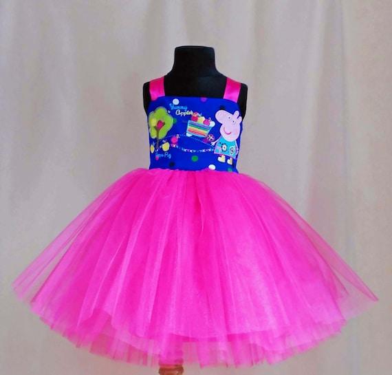 Soft Pink Polkadot Peppa Pig Birthday Dress Peppa Pig Dress Etsy