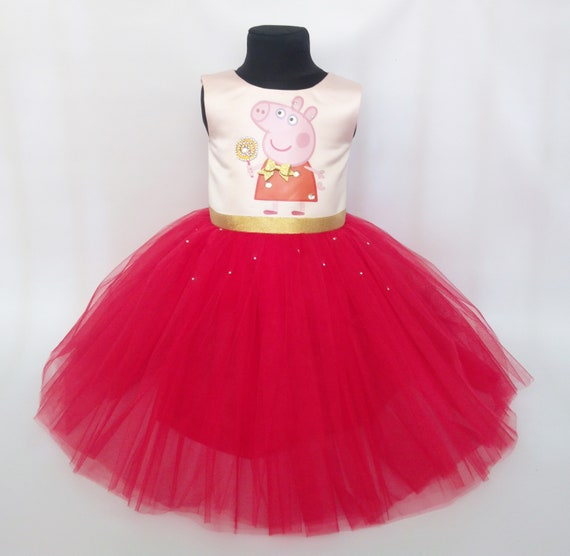 Rhinestones Lollipop Peppa Pig Birthday Dress Peppa Pig Tutu Etsy