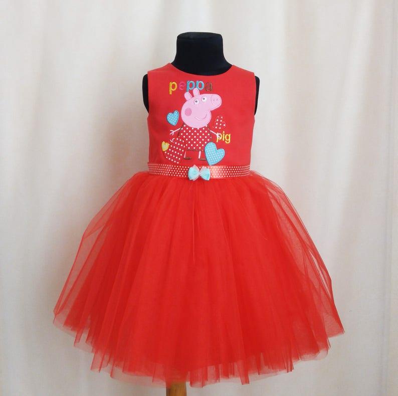 Beautiful Soft Peppa Pig Tutu Dress Peppa Pig Birthday Dress | Etsy