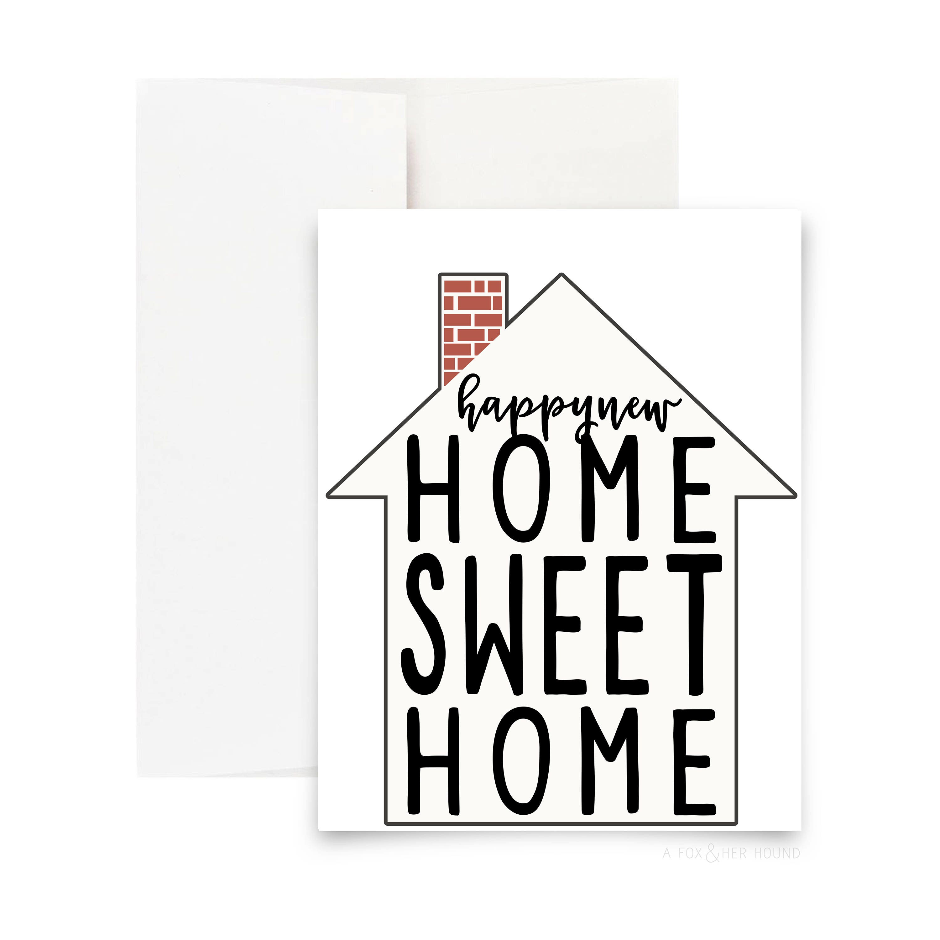 Happy new home sweet home greeting card m4hsunfo