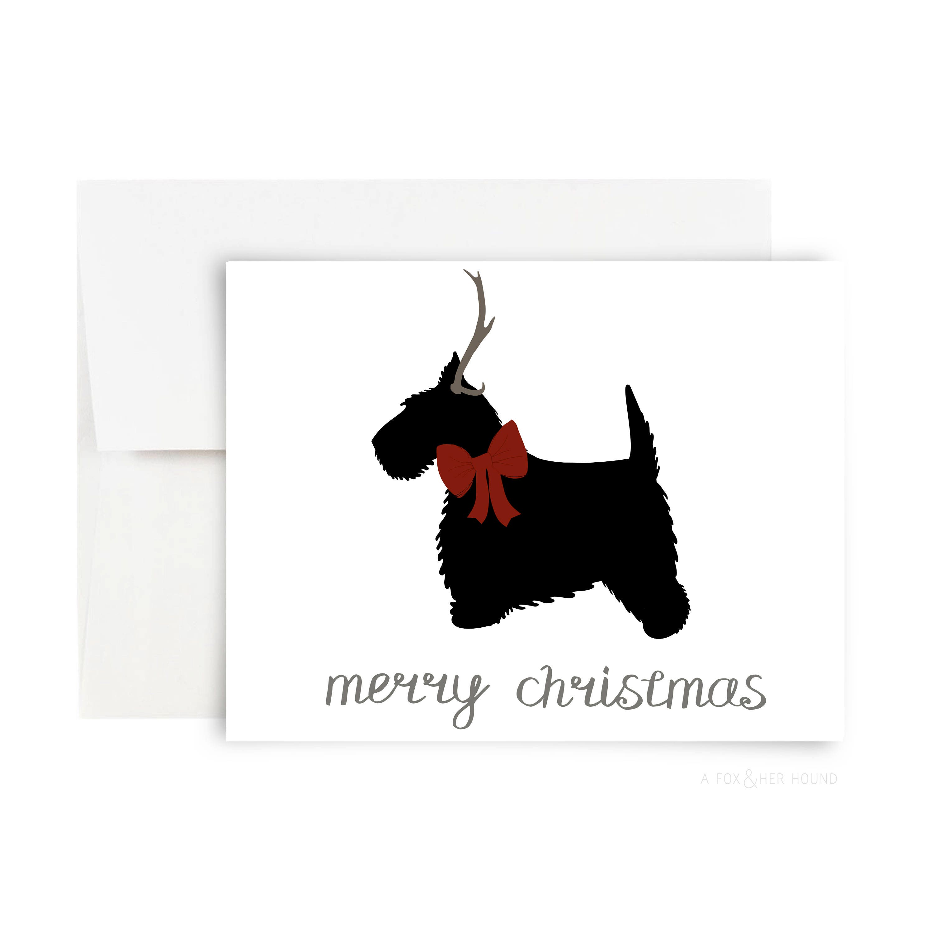 Merry Christmas Scotty Greeting Card