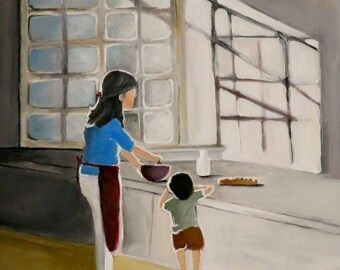 Baking Day -  Original acrylic painting