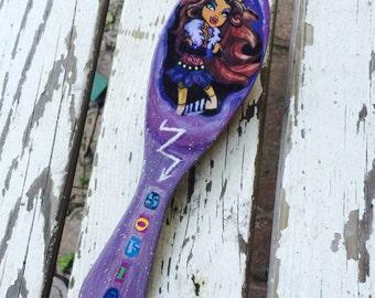 Hair brush hair comb hair brush wooden monster high comb wood comb brush for girl