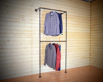 Store Fixtures, Retail Display, Steampunk Furniture, Clothing Rack,  Steampunk, Clothes Rack, Clothes Rail, Industrial Furniture, Industrial