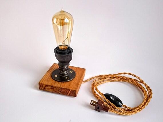 Edison-Lampe Steampunk-Lampe Tischleuchte | Etsy