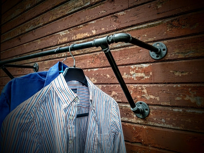 Heavy Duty Wall Mounted Clothes Rack Wall Mounted Clothes Etsy