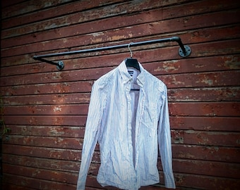 Wall mounted clothes rack, Wall mounted clothes rail, Garment rack, Pipe rack, Clothes hanging rack, Hanging rail, Cloth rack, Steampunk