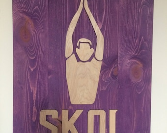 SKOL Football Wood Sign