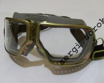 f09251563d3 USSR Pilot Aviator Steampunk Pilot Vintage Eyewear Arship safety Motorcycle  Punk goggles new