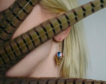 Earrings, Dangle Earrings, Beaded Earrings, Drop Earrings, Handmade Earrings, Handmade Jewelry, Avant Garde, Avant Garde Earrings, Jewelry