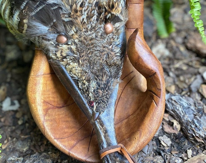 Sacred Starling and Grouse Ceremonial Smudge Fans on Deer Bone Handle