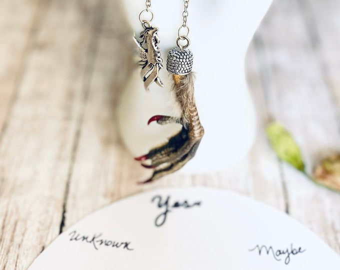 Ruffed Grouse Natural Claw Pendulum- Sacred, Ethically Sourced, Use for Energy Healing, Reiki, Divination, Dowsing, Shaman, Occult