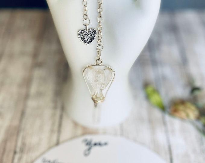 Angel Crystal Point Pendulum