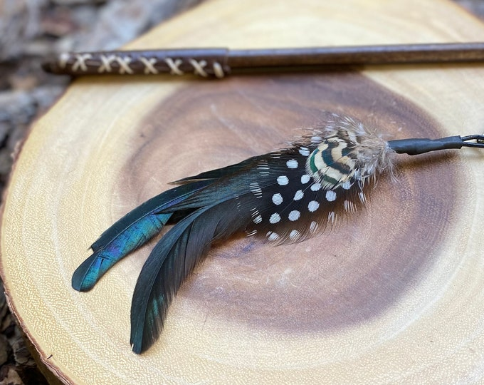 Fancy Feathers Cat Teaser Toy Attachment (use with wood teaser wand)