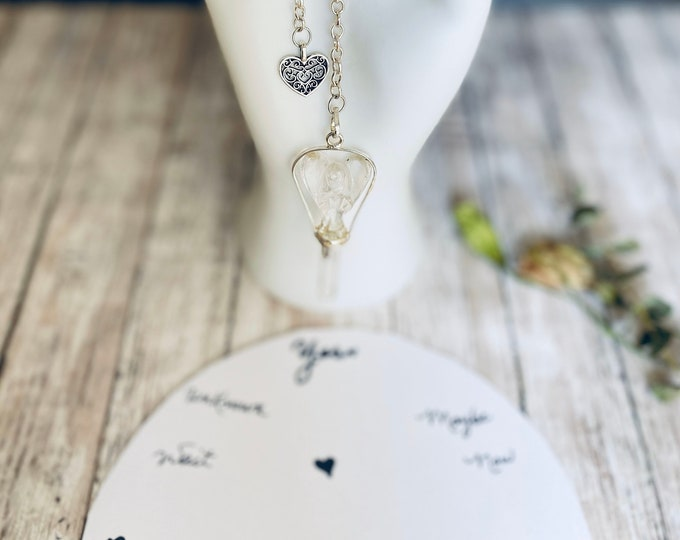 Crystal Point Angel Pendulum