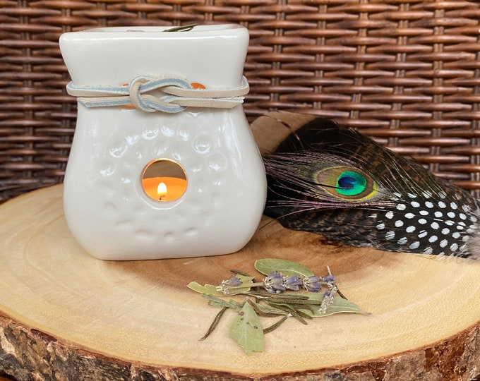 Ceramic Multi-use Loose Herb Burner for Crushed Herbs, Resins and/or Aromatic Smudge