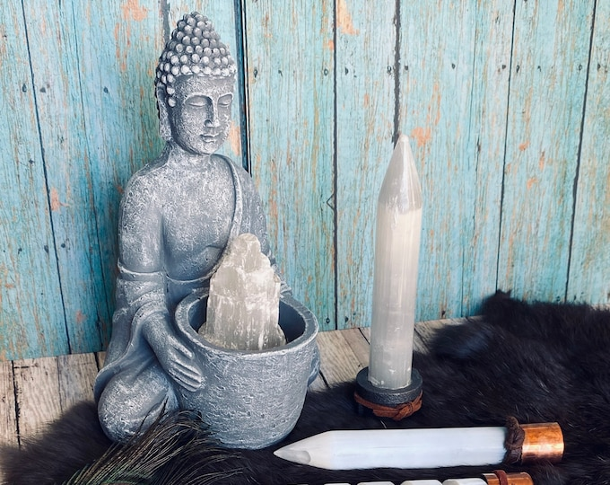 Selenite Wand with Applifying Copper
