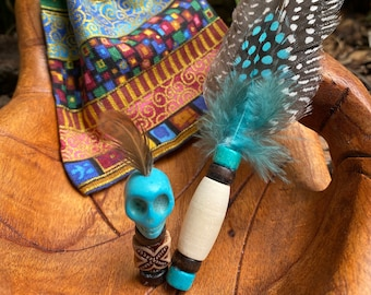 Prayer Feather, Ancestor Totem and Storage Pouch Sets