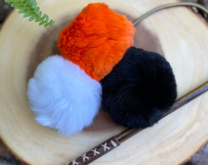 Cat Toy Attachment Real Fur Ball
