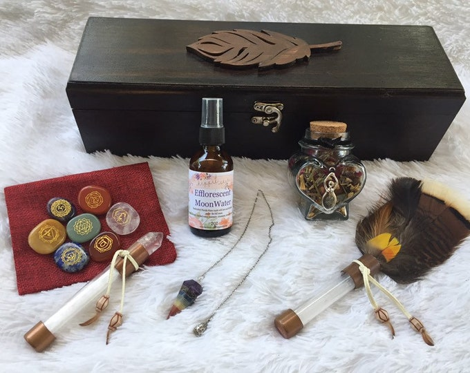 Energy/Chakra Healer Wooden Boxed Set -Customizable