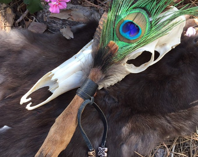 LIMITED SUPPLY Deer Foot Feather Smudge Fan