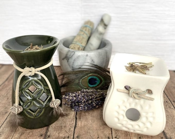 Multi-use Loose Herb Burner for Crushed Herbs, Resins and/or Aromatic Smudge