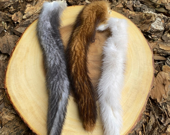 Mink Tail Cat Toy Attachment