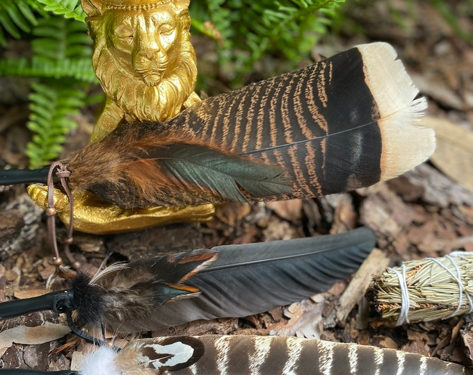 NEW! Sacred Smudge Feather with Protective Bag