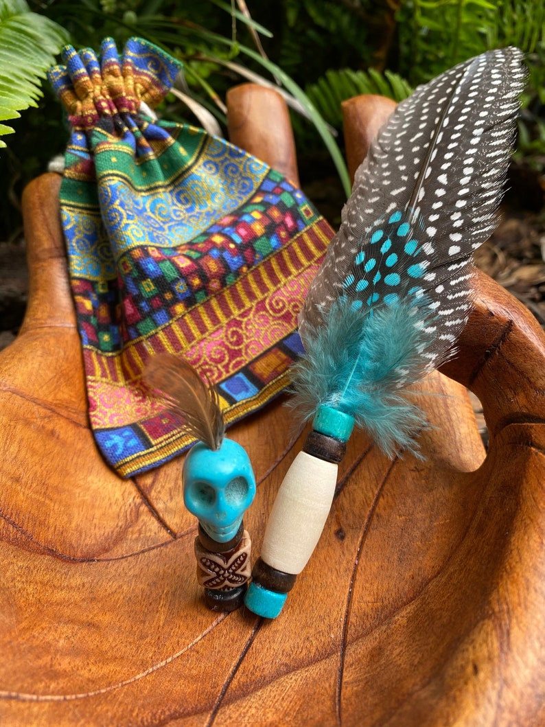 Prayer Feather Ancestor Totem and Storage Pouch Sets image 0