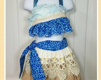 Hawaiian Princess Costume, Moana Costume, Moana Birthday, Moana Dress-up, Infant Moana, Toddler Moana, Girls Moana