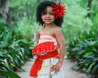 Moana Costume, Moana Dress, Hawaiian Princess Costume, Moana Birthday, Moana Dress-up, Girls Moana, Toddler Moana, Infant Moana