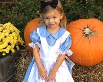 Alice Dress, Alice in Wonderland Dress, Alice in Wonderland Halloween, Party Dress, Character Birthday, Character Dress, Disney Alice,