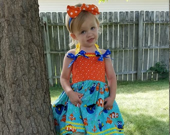 Finding Dory Twirl Dress, Finding Dory Birthday Dress, Finding Nemo Twirl Dress, Finding Nemo Birthday, Character Birthday, Character Dress