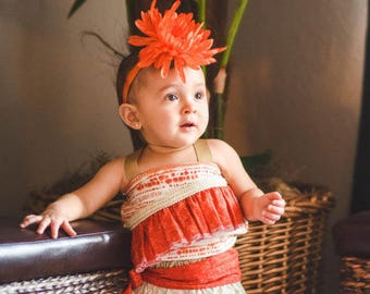 Moana Costume, Moana Dress, Hawaiian Princess Costume, Moana Birthday, Moana Dress-up, Infant Moana, Toddler Moana, Girls Moana