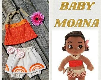 Baby Moana Costume, Baby Moana Outfit, Infant Moana, Toddler Moana, Moana Birthday