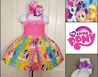 My Little Pony Twirl Dress, My Little Pony Birthday, Pony Birthday, Character Dress, Pony Character Dress
