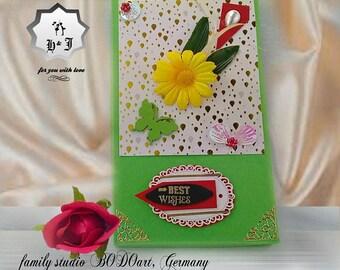 Stationery gift box. Best wishes. Birthday gift box. Birthday card box. Keepsake photo box. Photography gift box .Card storage. Card display