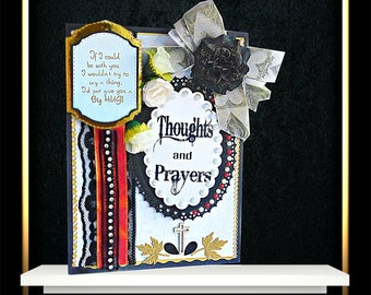 Sympathy card, When there are no words card for loss of Sibling, Dad, Mom, Brother, Sister. Personalized card with foil lettering, Boxed.