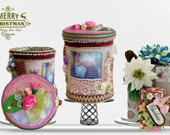 Girl organizer and fantasy trinket box  for all Cinderella  little fans. Inspiration gift in pink, Gift wrapped with beautiful Name Tag.