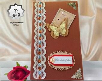 Birthday gift box. With love. Memory birthday box. Handmade card box. Stationery gift box. Memory photo box. Card organizer.