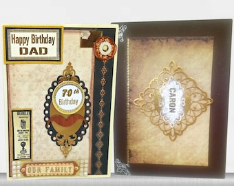 Custom Birthday card for men in retro style and a picture at your choice. Personalized card for Husband, Father, Friend, Partner, Grandpa.