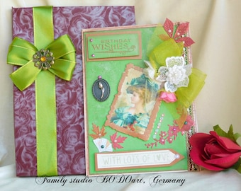 Handmade boxed card. Card for mom. 40th Birthday card. 50th Birthday card. 60th Birthday card. Card for wife. Card for girlfriend.