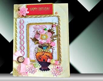 Friend birthday card. Card for mom. Girlfriend gift. Fiance Birthday card. Birthday gift. Romantic card. Best friend birthday. Birthday card