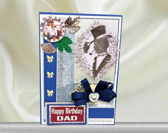 Custom card for the Most Perfect Dad with old sailor and ocean blue design. Personalized retro card for Men, Father, Husband, Partner.