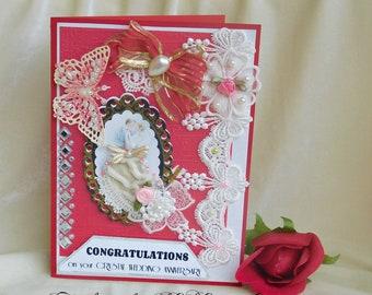 15 anniversary. Wedding day card. Congratulations card. Wedding anniversary. Happy anniversary. Anniversary present.