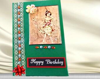Birthday box. Stationery gift box. Wax stamp box. Keepsake photo box. Card holder. Card organiser. Girl birthday gift. Wife birthday gift.